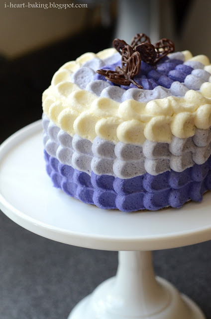 Ombre Petal Cake Frosting