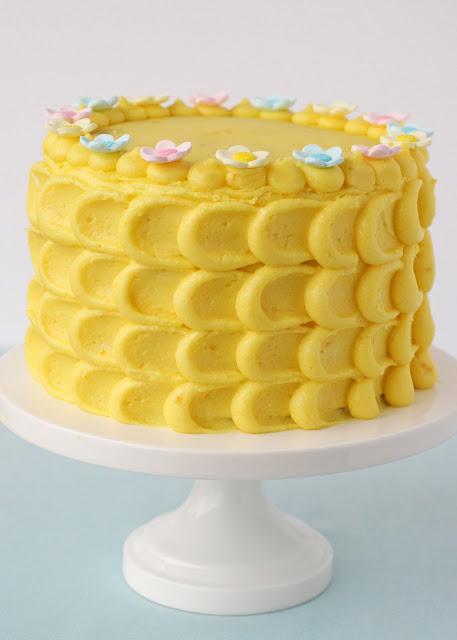 Petal effect cake